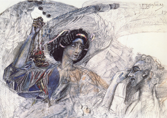 Mikhail Vrubel. The six-winged Seraphim