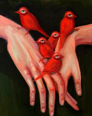 Anastasia Sergeevna Rydlevskaya. Love birds