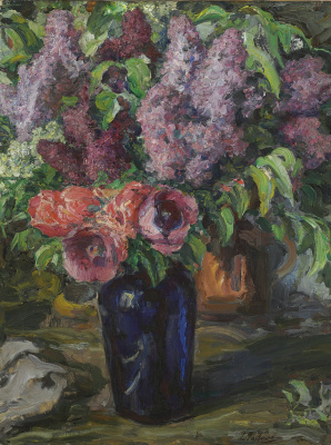 Leonid Osipovich Pasternak. Lilacs and poppies