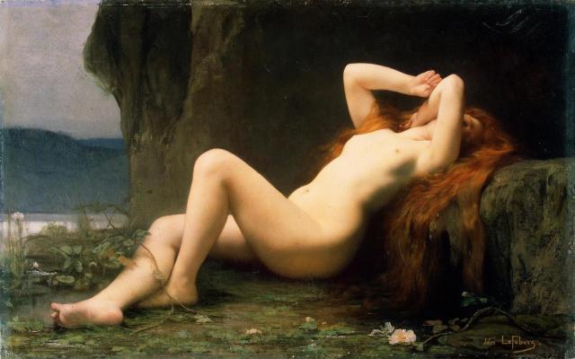 Jules Joseph Lefebvre. Mary Magdalene in the grotto. 1876