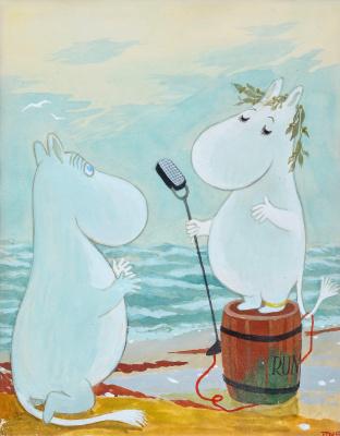 Tove Jansson. Speech (Speech!). Moomin characters