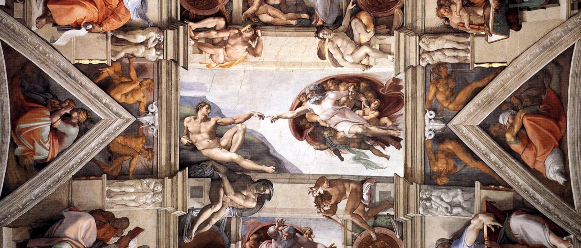 Микеланджело Буонарроти. Потолок Сикстинской капеллы