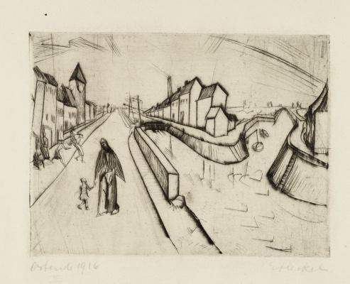 Erich Heckel. Channel in Ostend