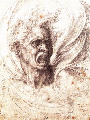 Michelangelo Buonarroti. Damned soul