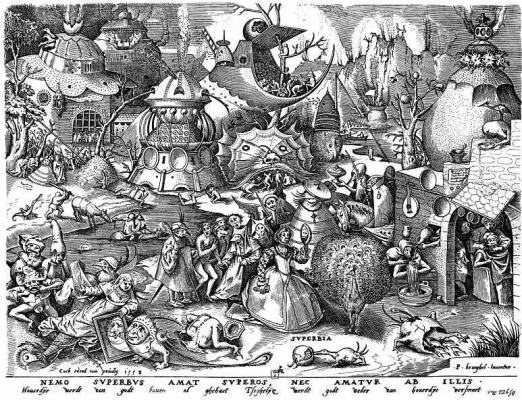 "Pieter Bruegel The Elder. The series ""Seven deadly sins"". Pride"