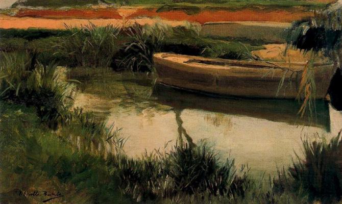 Joaquin Sorolla (Soroya). Boat in Albufera