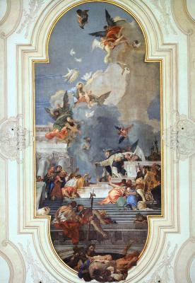 Giovanni Battista Tiepolo. The establishment of the rosary
