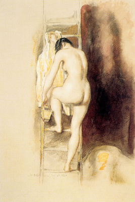 David Wilkie. Nude ascending the stairs