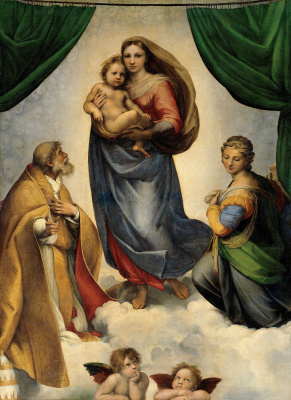 Raphael Santi. The Sistine Madonna
