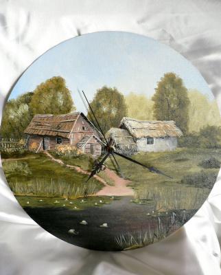 Sergei Nikolayevich Khodorenko-Zatonsky. Painting with clock