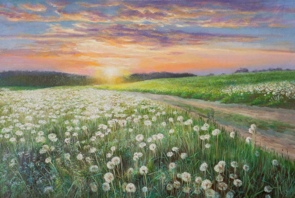 Savely Kamsky. Sunset in dandelions