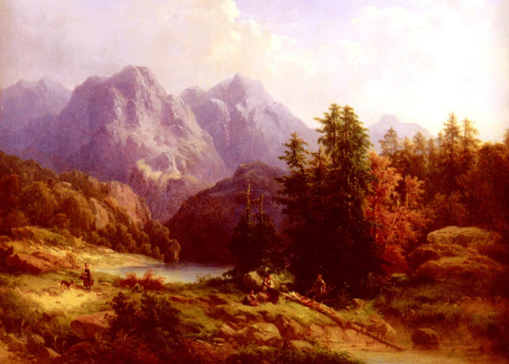 Х Баумгартнер. Альпийский пейзаж