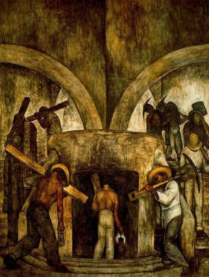 Diego Maria Rivera. Entrance to the mine