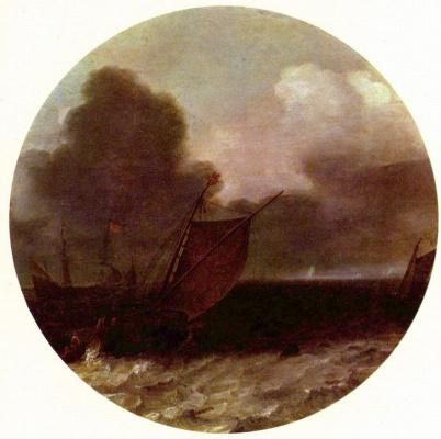 Юлиус Порселлис. Морской пейзаж