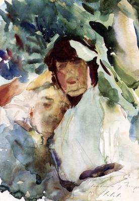 John Singer Sargent. Ena Wertheimer with Antonio Mancini