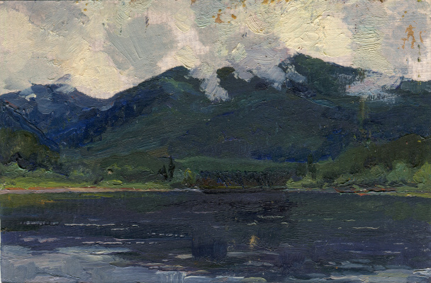 "Vasily Fadeevich Demin. Etude ""Lake in the Sayan Mountains"""
