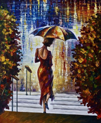 Leonid Afremov. On the stairs