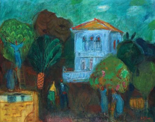 Нахум Гутман. Сбор апельсинов в Неве-Цедек