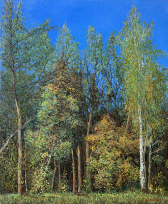 Albert Safiullin. Autumn forest in the park Pokrovskoe-Streshnevo.