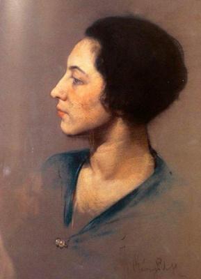 Ivan Grigorievich Myasoedov. Portrait of Madame Brodsky