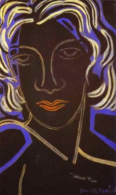 Франсис Пикабиа. Портрет женщины с красными губами