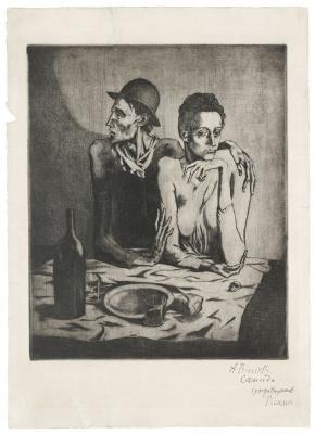 Пабло Пикассо. Скудная трапеза