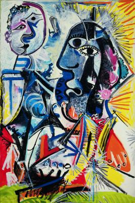 Pablo Picasso. Big heads
