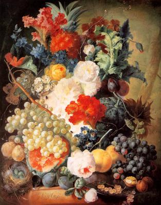 Анри ван Ос-Делез. Цветочный натюрморт