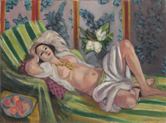 Henri Matisse. The recumbent odalisque with magnolias