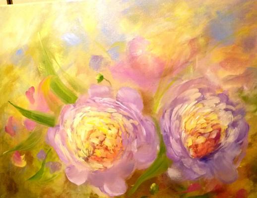 """Valeria Kostromina. Painting """"Solar Peonies"""""""