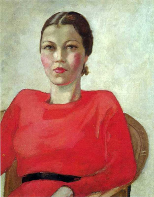 Alexander Alexandrovich Deineka. The woman in red