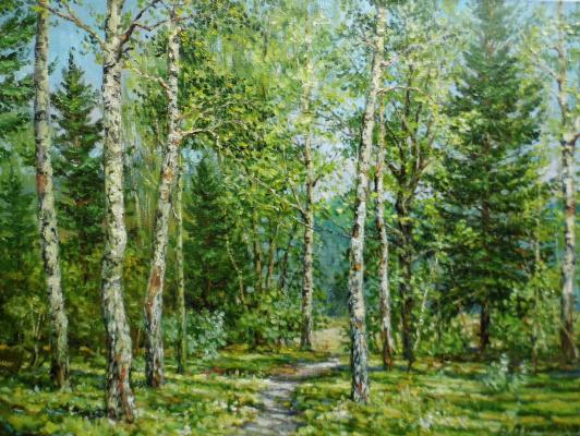 Victor Vladimirovich Kuryanov. Birch Grove