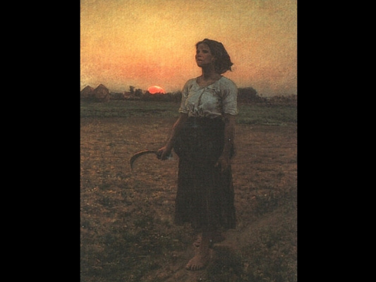 Jules Breton. The woman with the hammer
