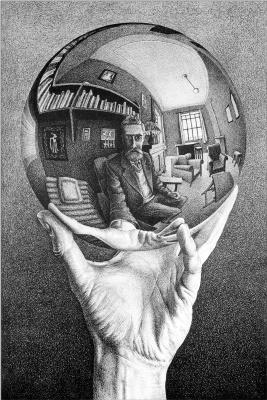 Рука с отражающей сферой