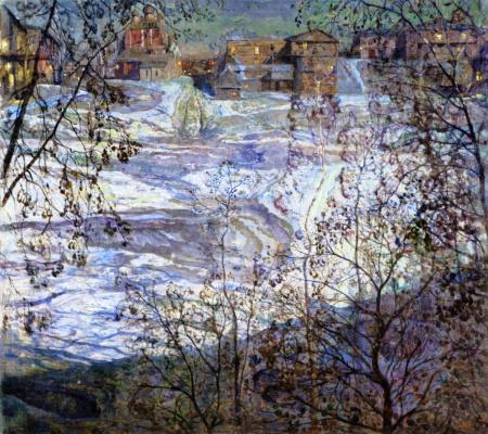 Isaac Brodsky. Winter Moonlight Night