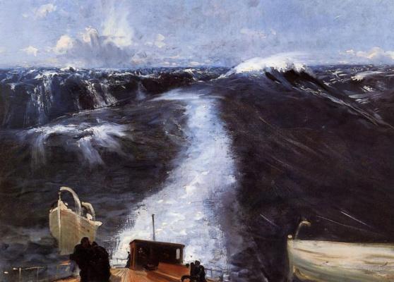 John Singer Sargent. Storm on the Atlantic ocean