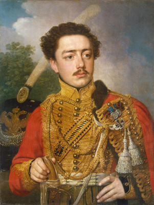 Vladimir Lukich Borovikovsky. Portrait of a captain of Lejb-guards hussar regiment Semenovich Pavel Masyukov