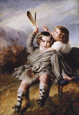 Franz Xaver Winterhalter. Prince Alfred and Princess Helena (small version)