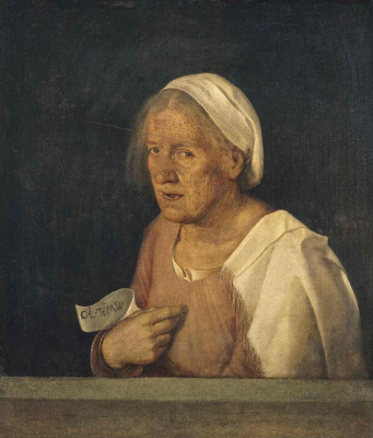 Giorgione. Old woman. Portrait of an old woman