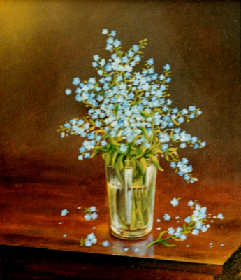 Vladimir Vasilyevich Abaimov. The Forget-Me-Not in a Glass
