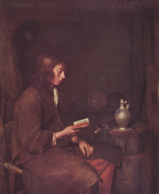Gerard Terborch (ter Borch). Young man reading