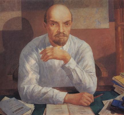 Кузьма Сергеевич Петров-Водкин. Портрет В. И. Ленина
