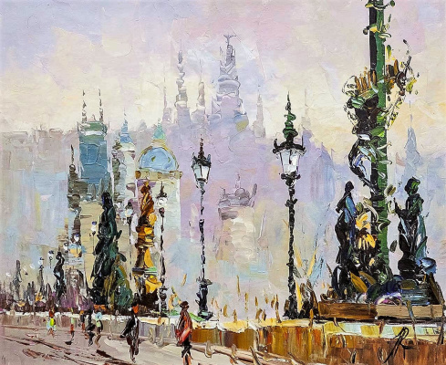 Jose Rodriguez. The Charles Bridge. City sketches