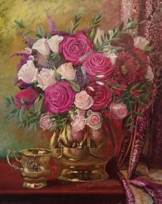 Evgeny Vladimirovich Terentyev. Roses in gold