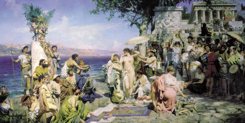 Генрих Ипполитович Семирадский. Фрина на празднике Посейдона в Элевсине