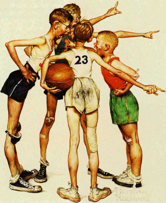 Four of the champion. Basketball