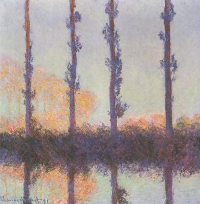 Claude Monet. Four poplar
