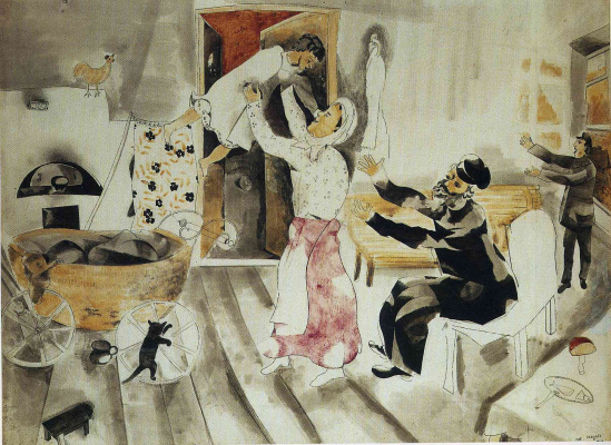 Marc Chagall. A visit to grandma and grandpa