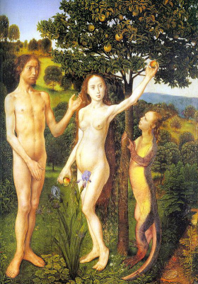 Hugo van der Gus. Adam and eve