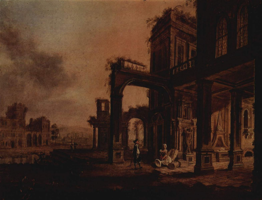 Христиан Штёклин. Вид дворца